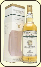 A bottle of rare Allt-A-Bhainne whisky